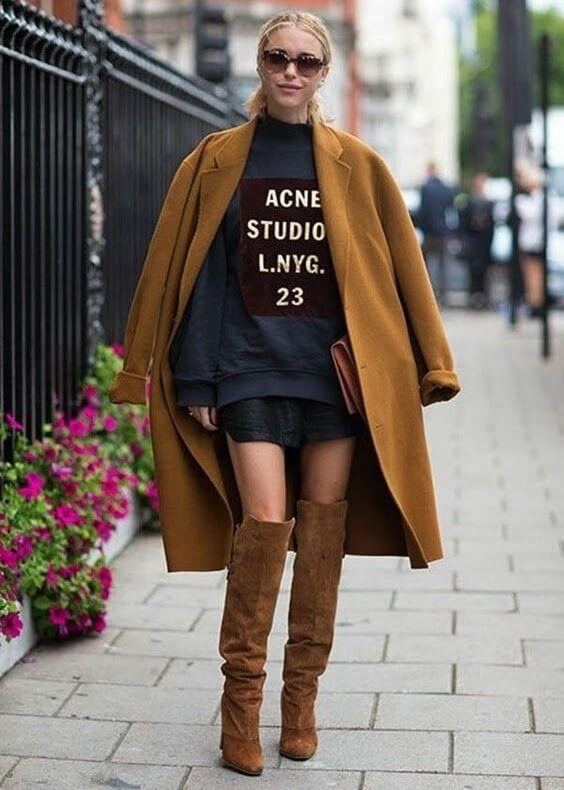 street style look com moletom 1