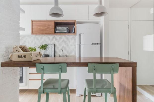 apartamento pequeno com cozinha integrada