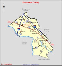 Map Of Dorchester County Sc | Queenstyle