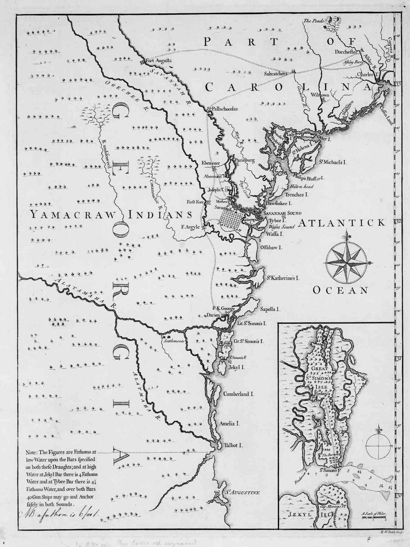 Map Of South Carolina And Georgia