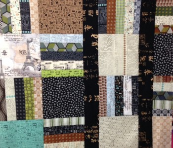 I used low volume in this quilt for our house but many other prints just sat in a bin!