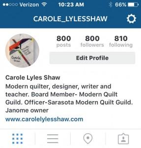 800 followers IG