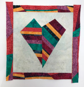 Island Batik Mod Hearts Mini Quilt Tutorial