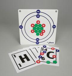 magnetic atom model set [ 1000 x 1000 Pixel ]
