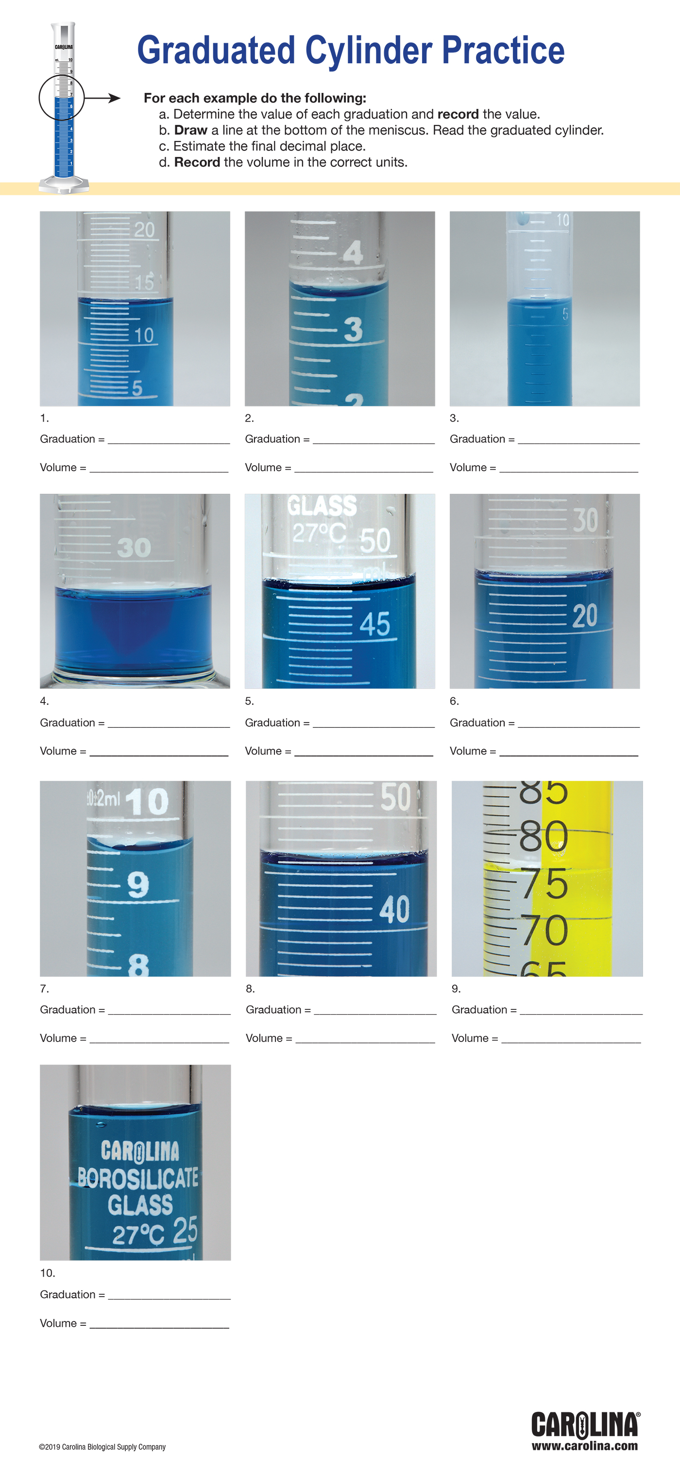 Infographic Graduated Cylinder Practice