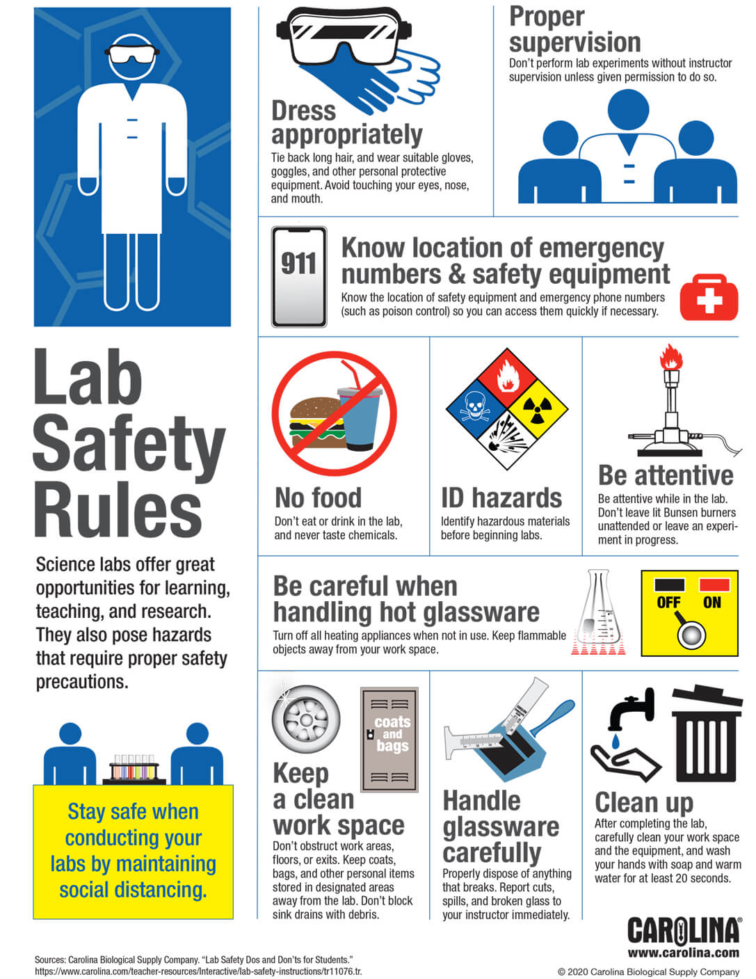 Infographic Lab Safety Rules