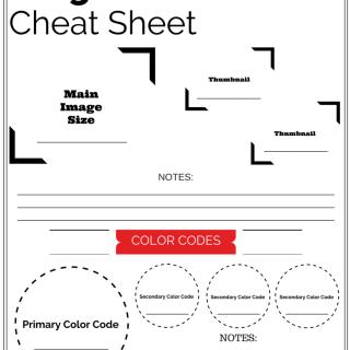 Carolina Blogging Image & Color Cheat Sheet