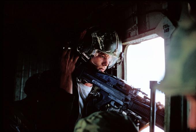 Helicopter gunner in Vietnam