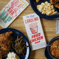 """The Great"" Carolina Fried Chicken Map"
