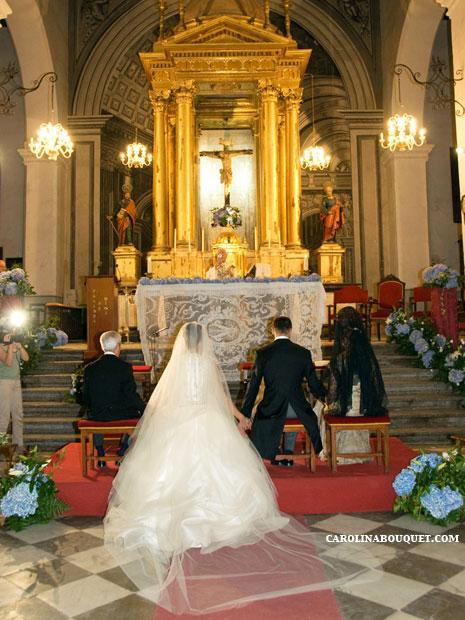 Decoracin de iglesias para Bodas en Granada  Decorar iglesia