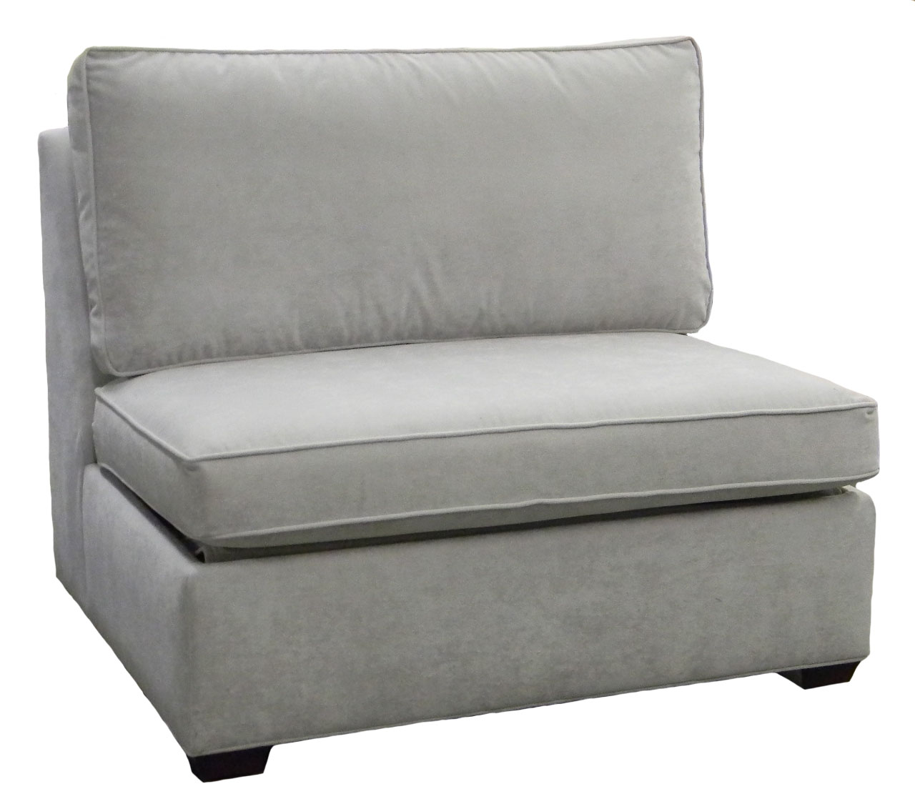 Crawford Sectional Armless Single Sleeper Sofa Carolina
