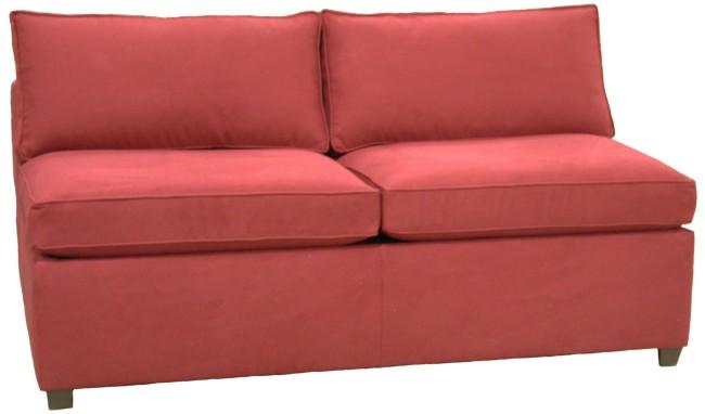 sectional armless full sleeper sofa