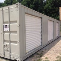 40 Foot Container with 3 Roll-Up Doors - Carolina Containers