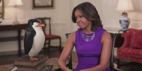 o-MICHELLE-OBAMA-PENGUINS-MADAGASCAR-facebook
