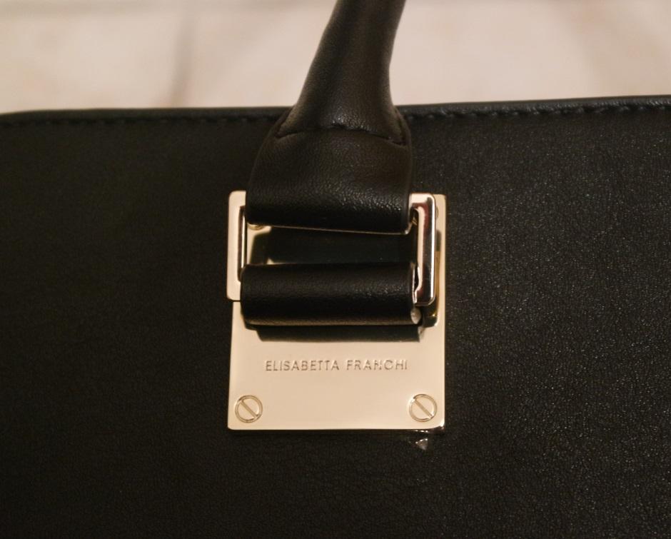 Borse di Elisabetta Franchi - Dettaglio tote bag nera 1