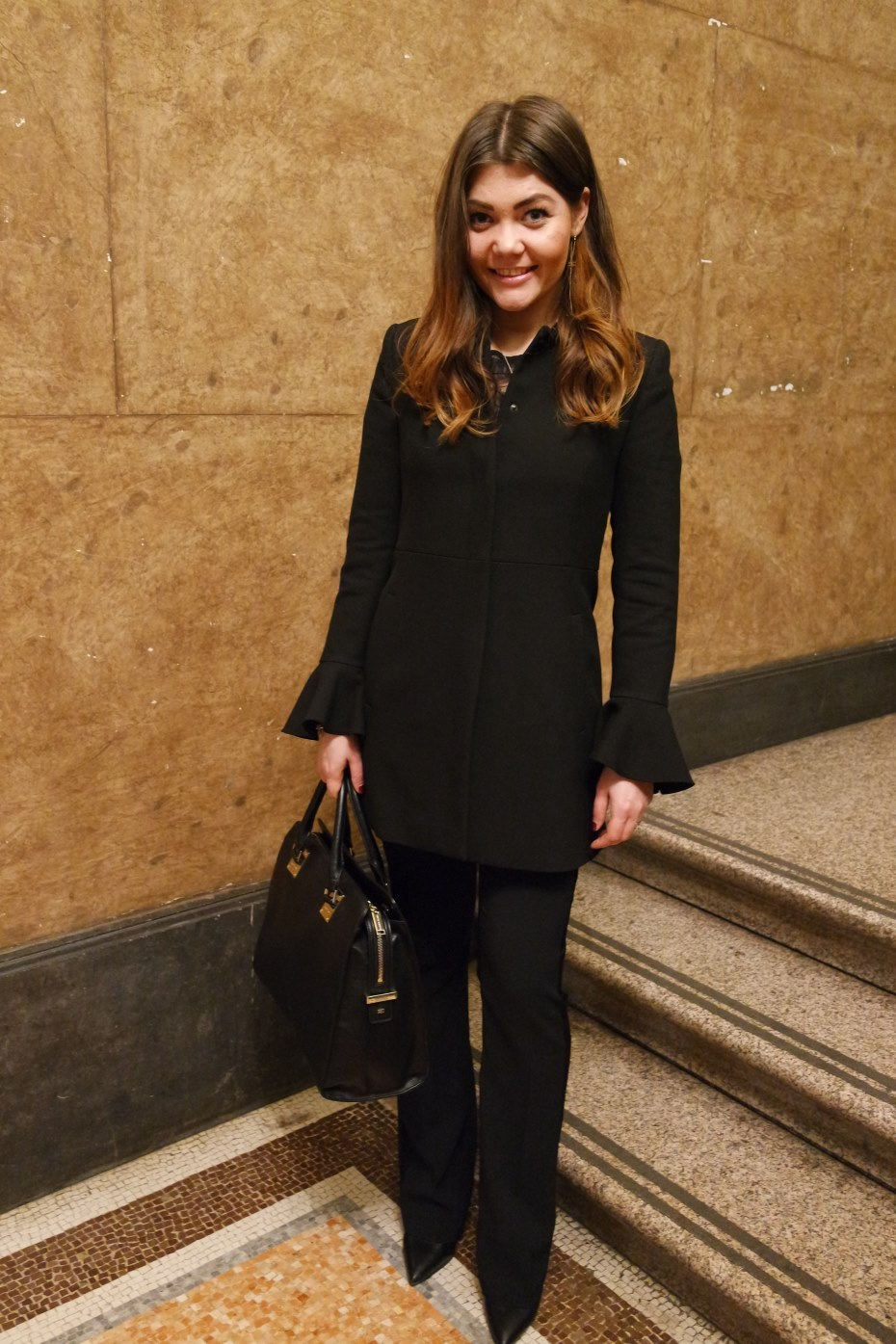 The smart dressing - outfit total black