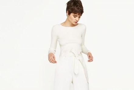 Pantaloni bianchi palazzo