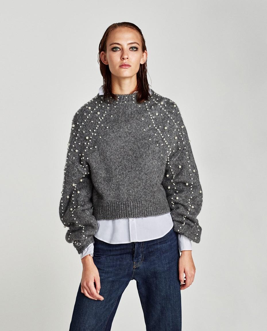 Maglione e jeans abbinamento casual
