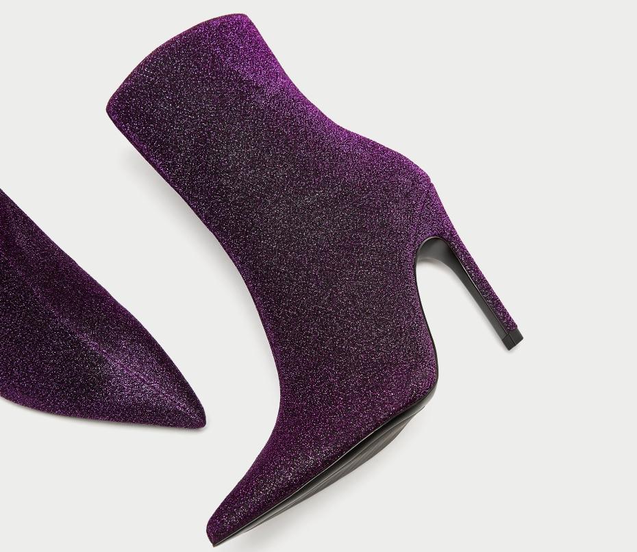 Stivali pieni di glitter