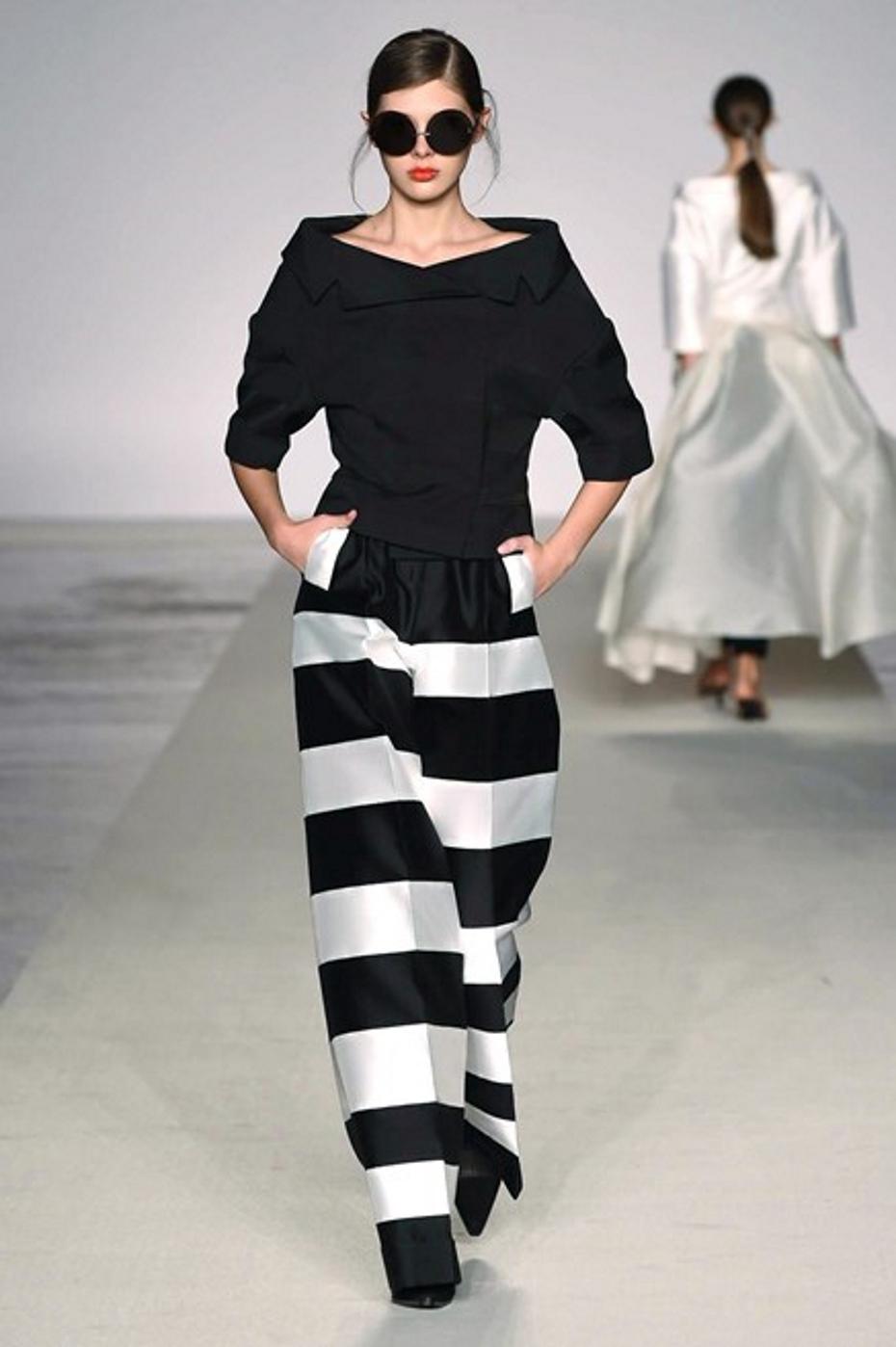 completo bianco e nero pantalone