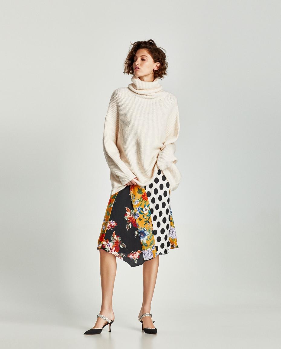 maglione over size collo alto