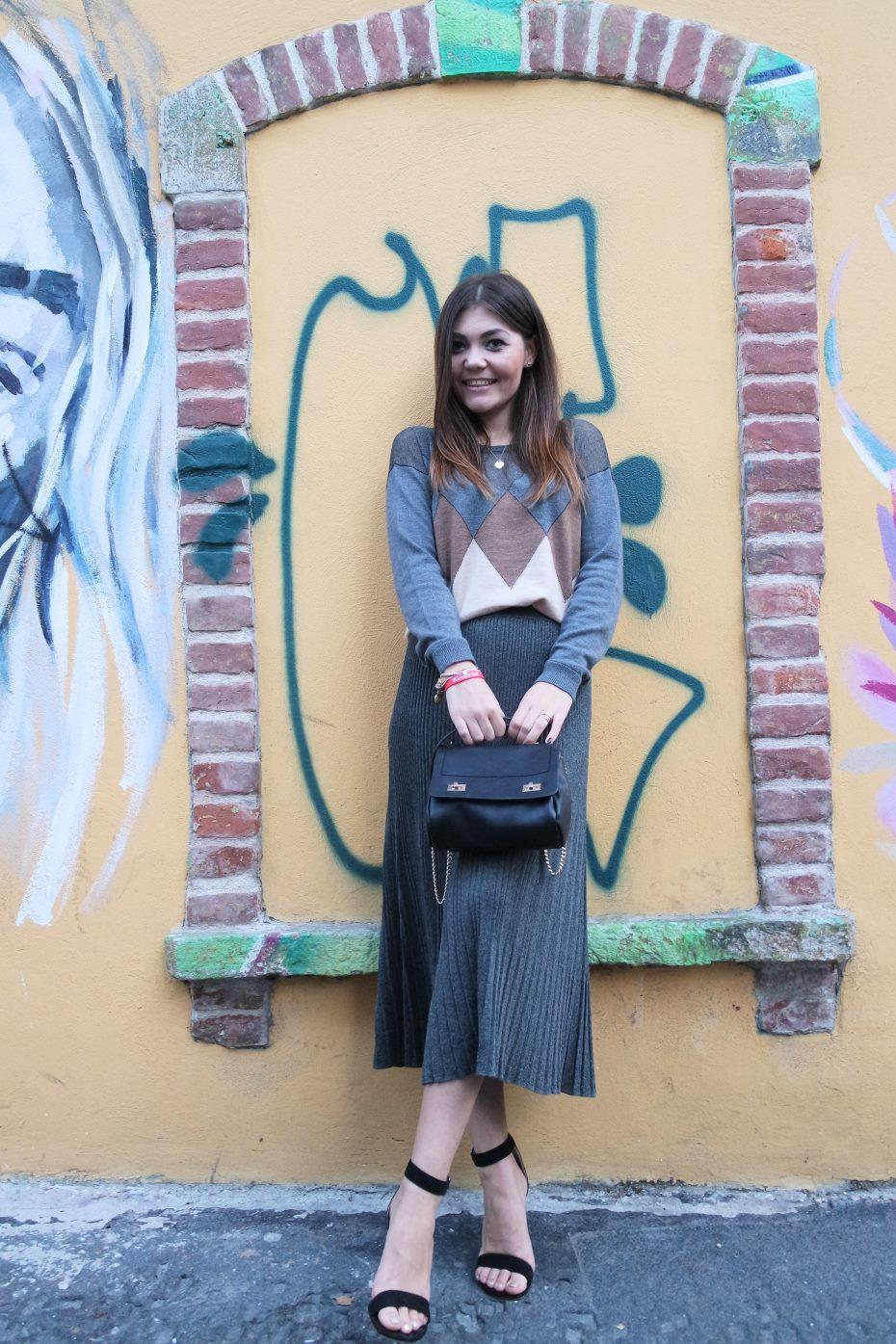 Gonna midi fashion blogger