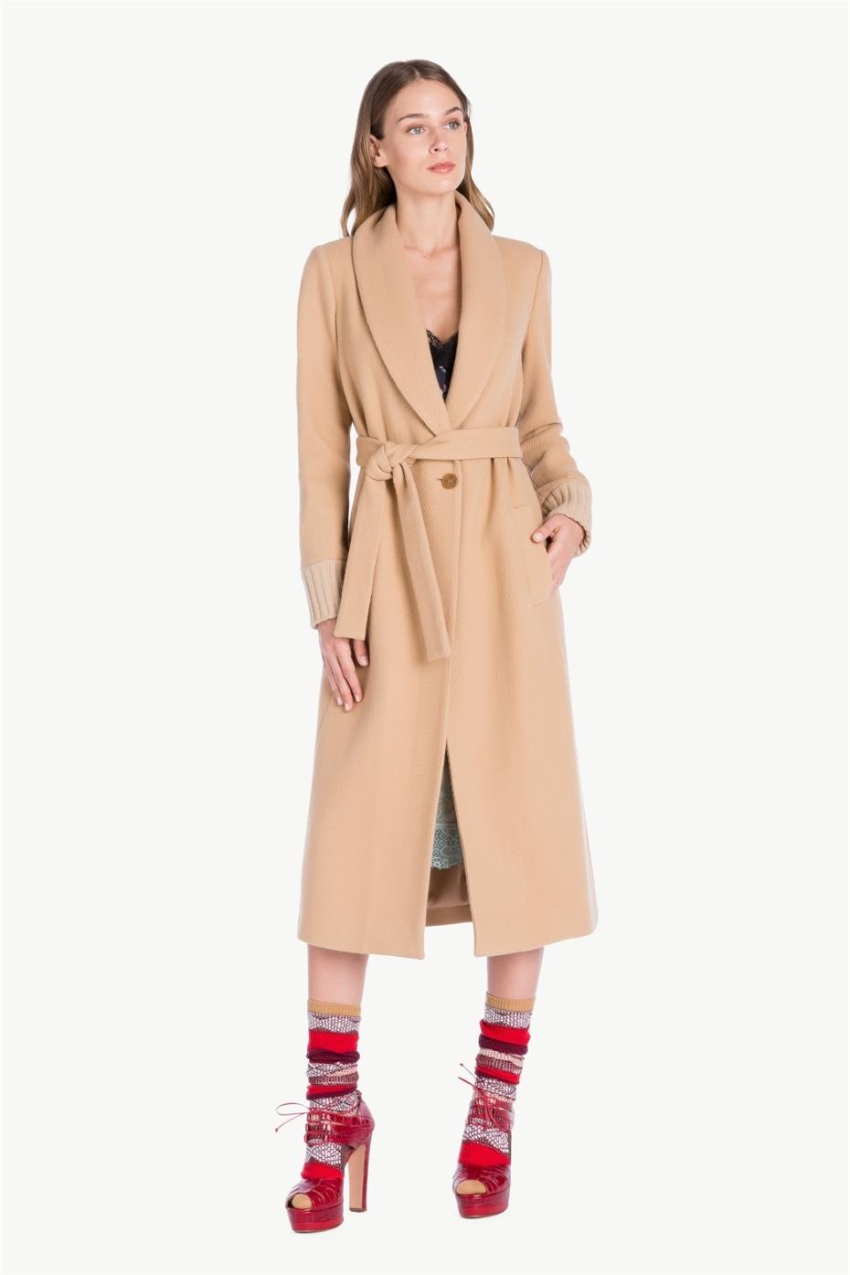 Cappotto cammello lungo