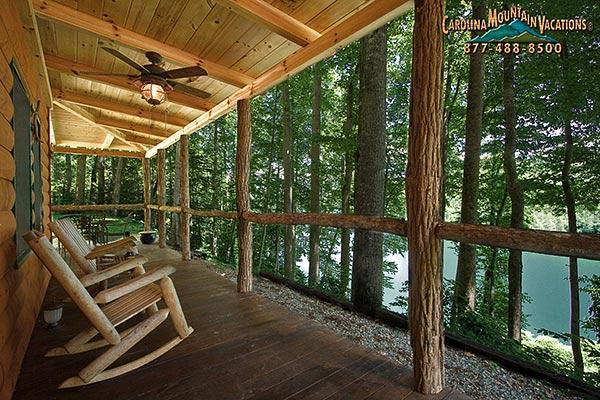 Lake View 2 Bedroom Log Cabin Rental Bryson City NC info