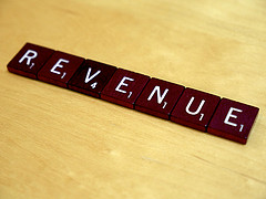 Word Scrabble For The Word Revenue