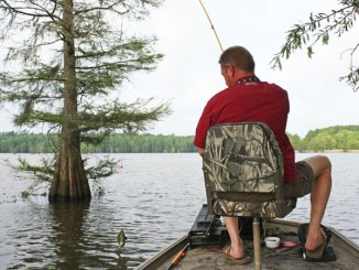 A long pole, even a long fly-rod, enables a fisherman to nestle a bait tight to heavy cover.