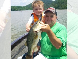 Shane Floyd showed young son Austin the potential of Tuckertown Lake bass.