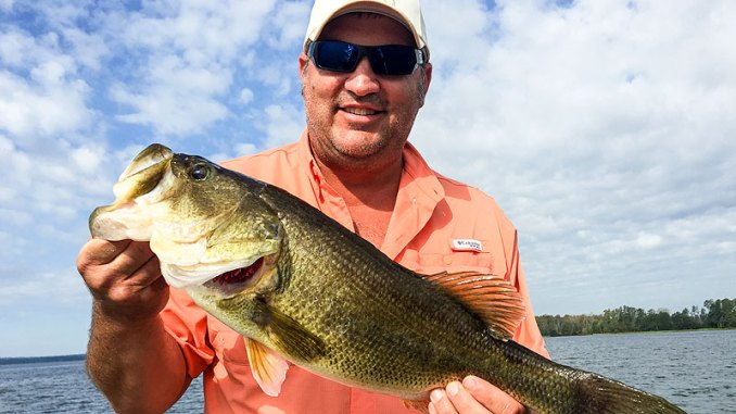 The lower end of Falls of the Neuse Lake is the best place to start targeting bass on main-lake points and channel drops.