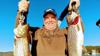 January and Lake Jocassee mean big trout
