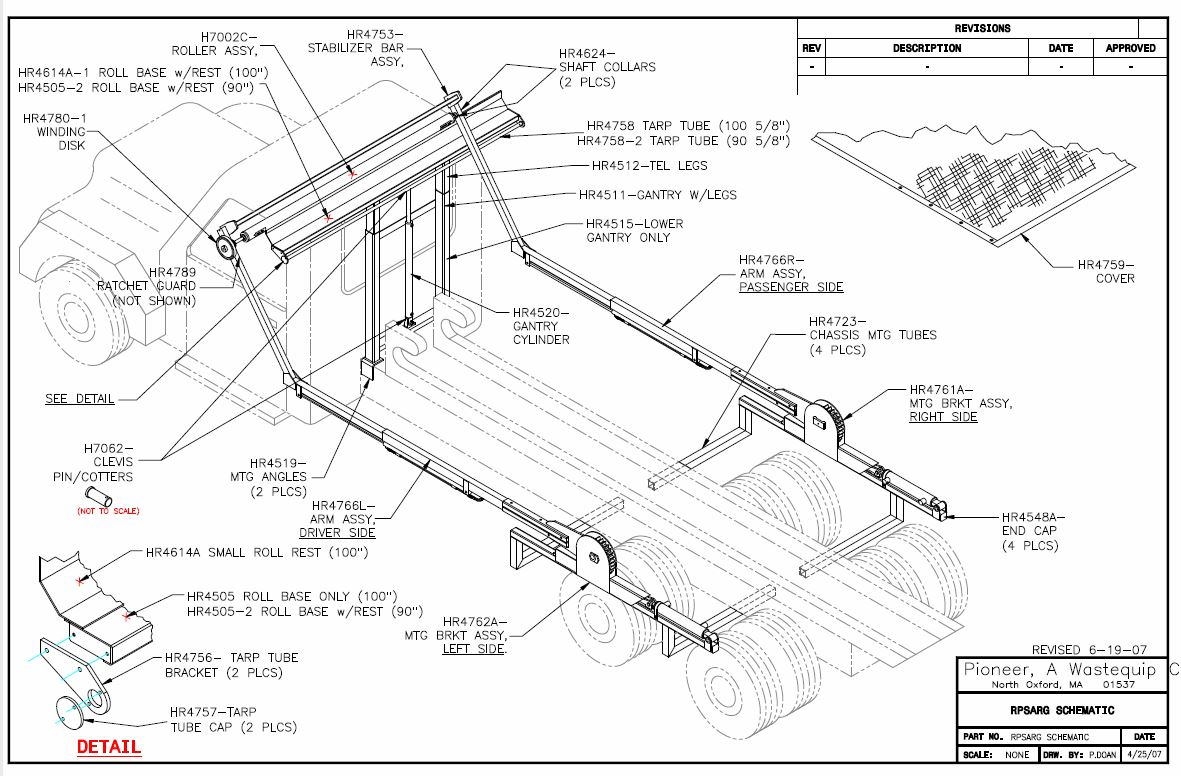 hight resolution of pioneer rack n pinion rp4500sarg strong arm tarping system sale pioneer parts diagram