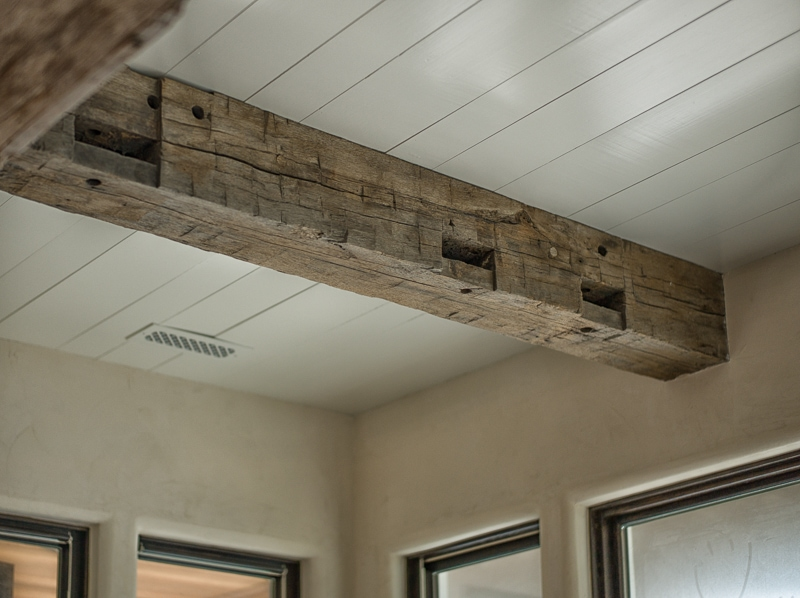 How to install real wood beams on ceiling www for Adding wood beams to ceiling