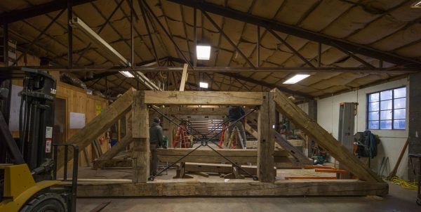 Fitting Reclaimed Wood Timber Frame Barn In