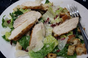 Eggless Chicken Caesar Salad (20 minute meal)