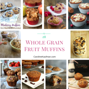 28 Whole Grain Fruit Muffins