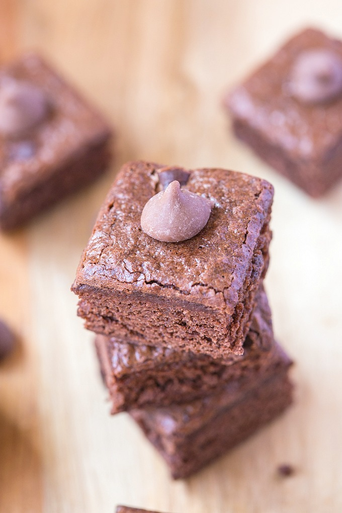 Fudgy and dense with undetectable zucchini hidden inside. Vegan, gluten-free and with a high-protein recipe option