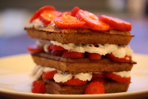 Whole Grain Waffle Strawberry Shortcake