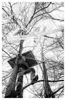 VEENKLOOSTER Bauke: 'Ik had vroeger altijd een boomhut. Had mijn vader gemaakt. Maar nu kan ik er zelf een maken, ik ben nu timmerman.'