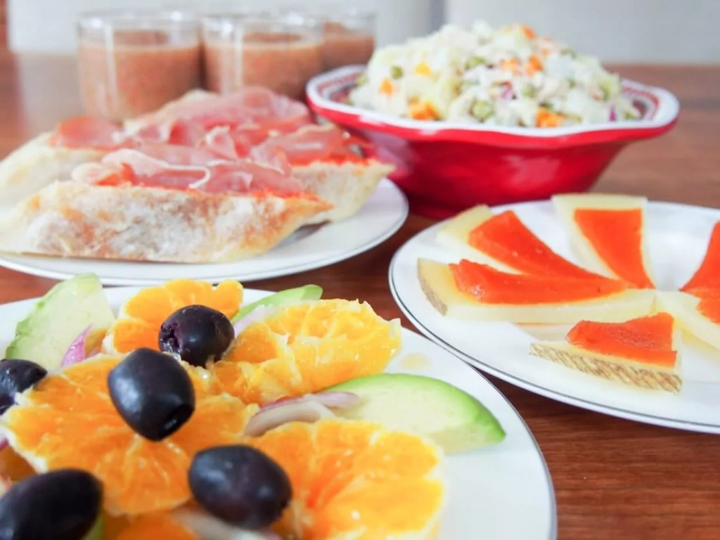 Simple summer Spanish tapas