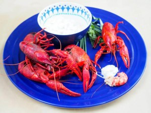 langoustines with herbed cream