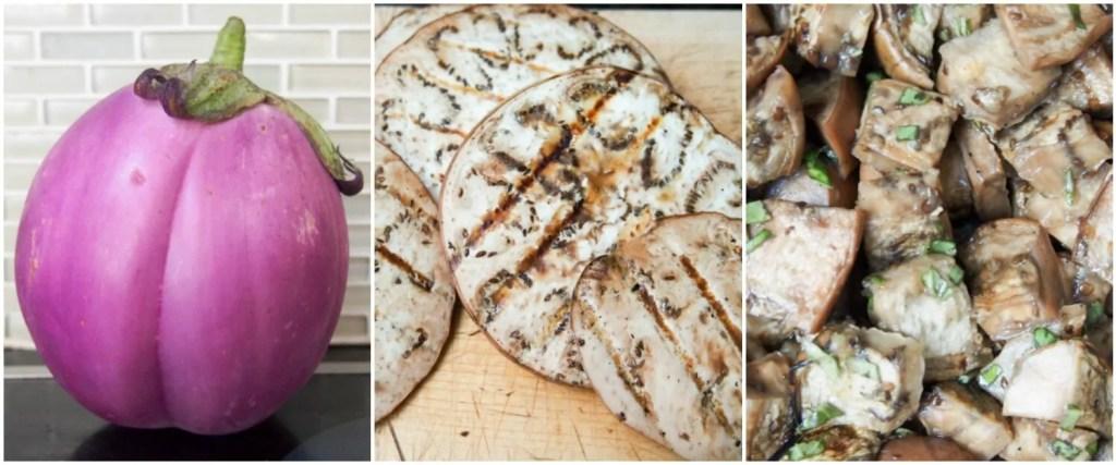 making marinated eggplant
