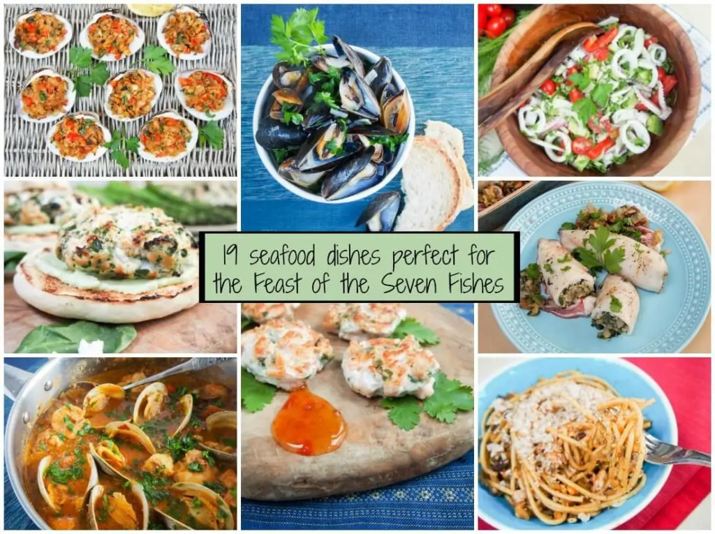 If you're considering making a Feast of the Seven Fishes, let this list of 19 seafood dishes inspire you. Finger food, mains and pasta, mostly easy too. This list has something for every seafood lover.