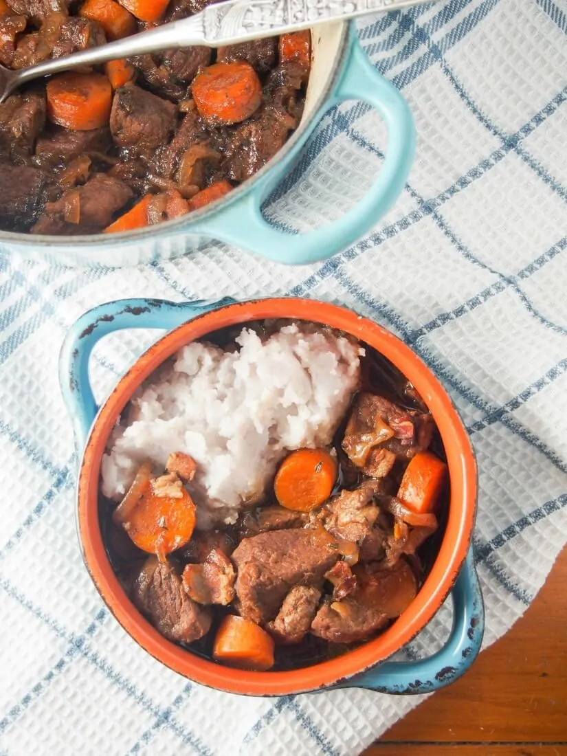 This beef and stout stew is easy to make and a hearty, comforting meal. The stout gives a wonderful rich flavor & tenderizes the beef. Great on a cold day.