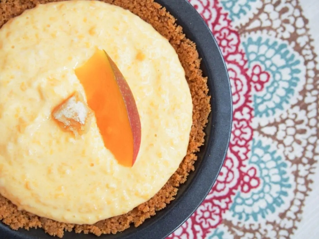 individual no bake mango pie