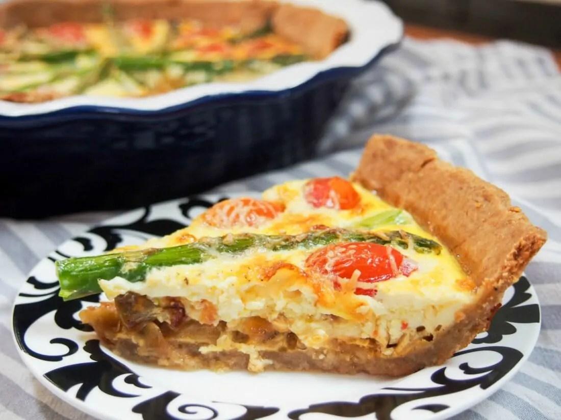 tomato asparagus quiche