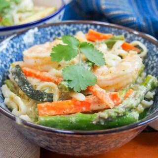 One pot Thai green curry shrimp
