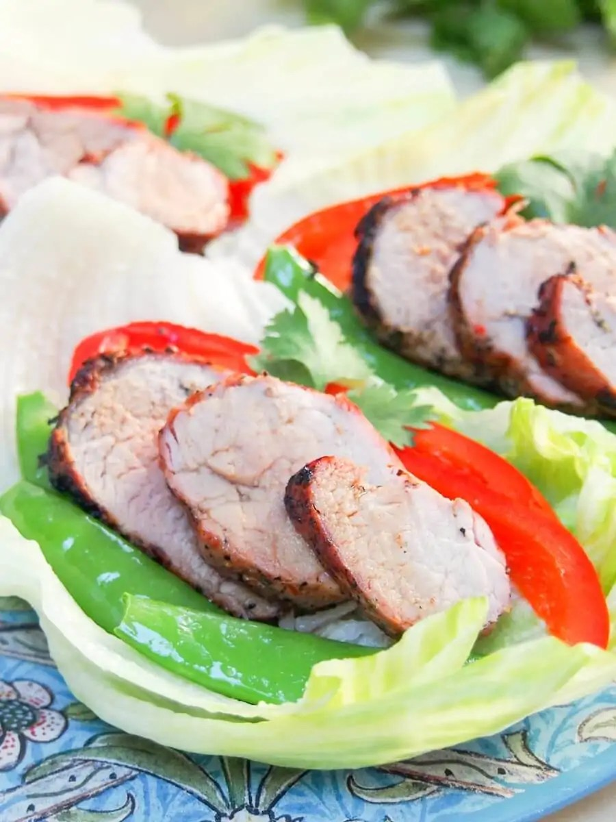 These Thai-style grilled pork lettuce wraps are incredibly easy to make, packed with veggies and delicious flavors. They make a great, light summery meal.